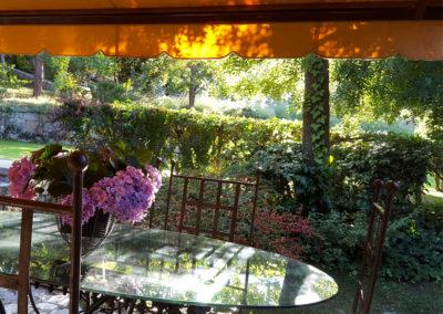 Porche jardín Casa Bonita Navacerrada