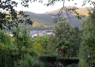 Vistas desde el jardín Casa Bonita Navacerrada