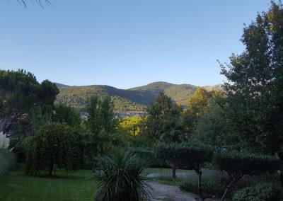 Vistas jardín Casa Bonita Navacerrada